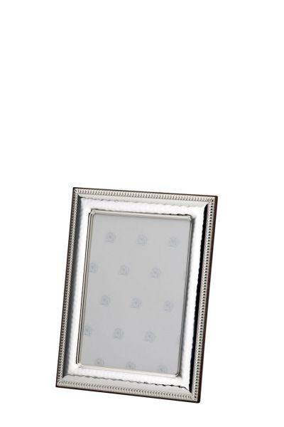 Rahmen Kordel/Perle 6x9 - Echt Silber