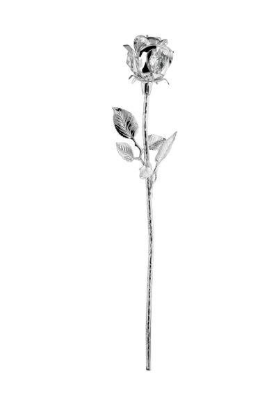 Rose versilbert mit österreichischem Kristallglas