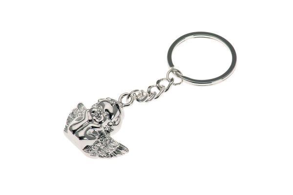 Schlüsselanhänger Schutzengel mit Ring